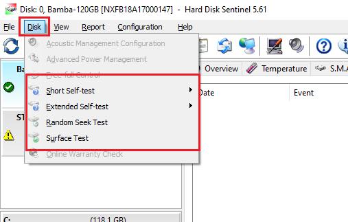 phần mềm kiểm tra lỗi ổ cứng Hard disk sentinel