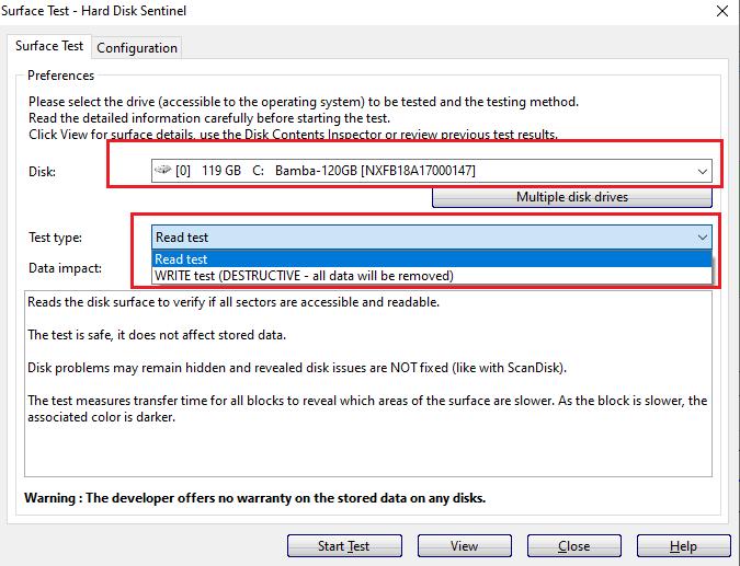 kiểm tra ổ cứng bằng phần mềm hard disk sentinel