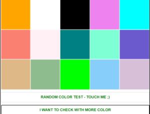 test màn hình online