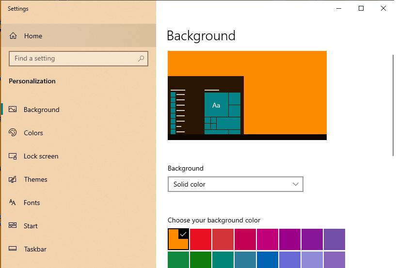 Test màn hình máy tính bằng cách đổi màu background